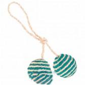 2 bolas com corda de sisal catnip