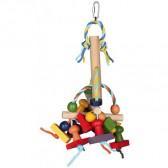 Brinquedo de madeira colorido 31cm