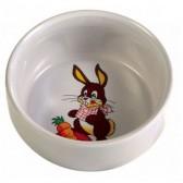 Alimentador de coelhos decorado