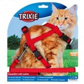 Nylon gatos arnês de correia